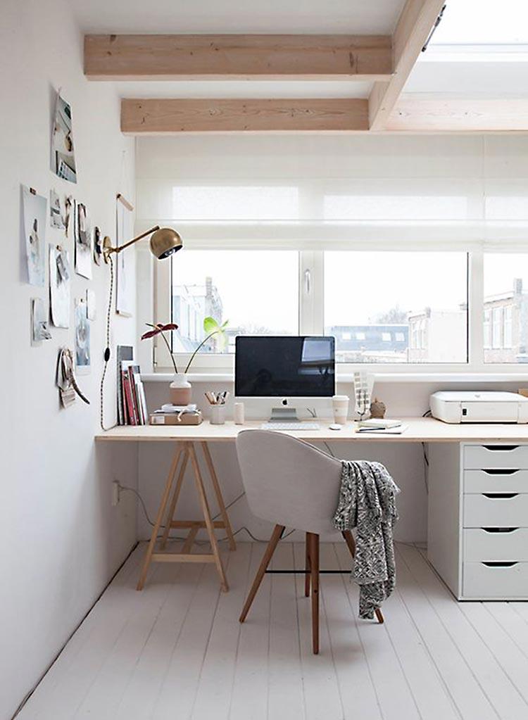 Espacio de trabajo estilo nórdico