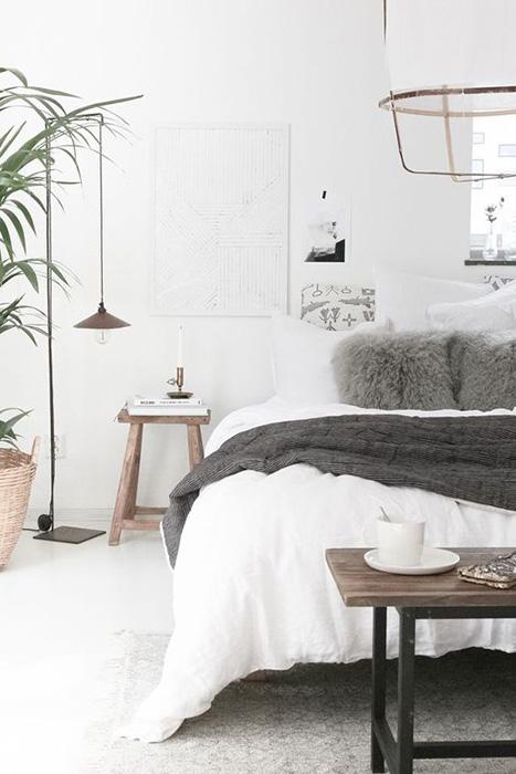 tendencias deco otoño - habitación estilo nórdico
