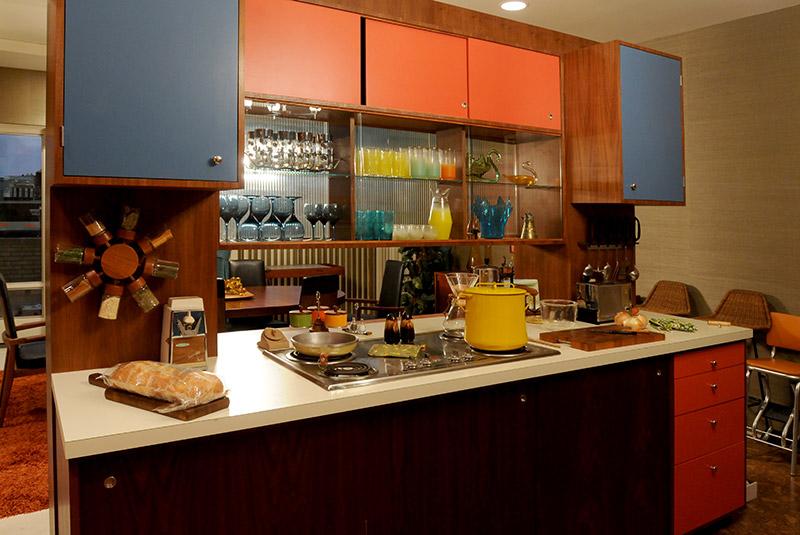 Cocina del apartamento de Don Draper