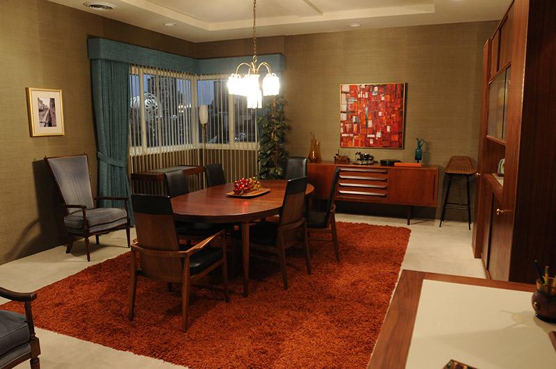 Comedor del apartamento de Don Draper