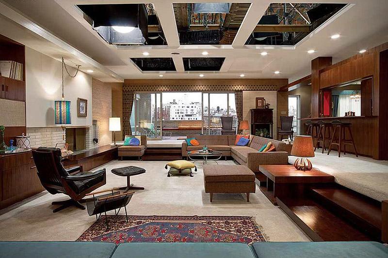 Salón del apartamento de Don Draper