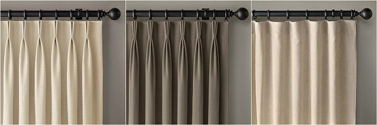 Tipos de plisados de cortinas
