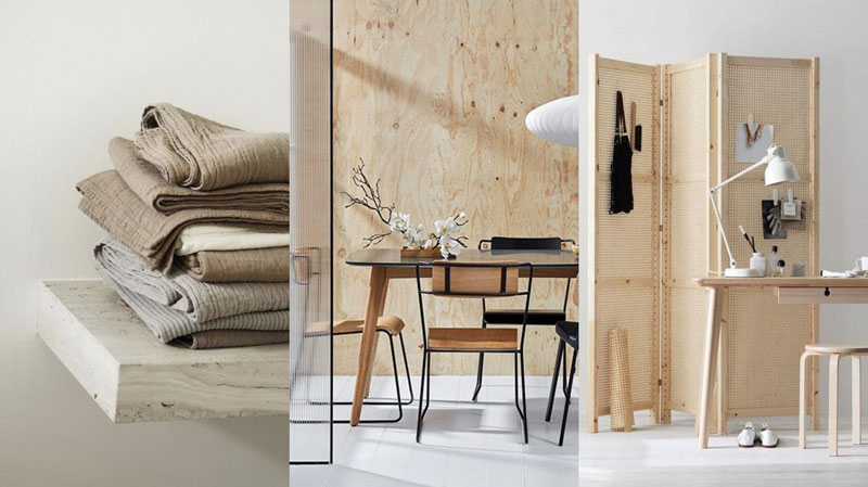 materiales estilo 'japandi'