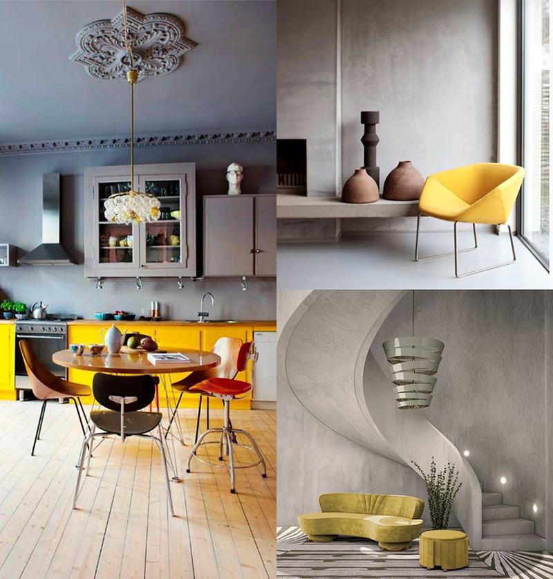 tendencias de 2021 gris y amarillo